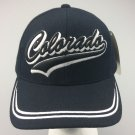 New Baseball Cap COLORADO State Curved Black Blue Adjustable Velcro Men's Hat