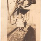 1920-30s Antique Photo of Pretty African-American Woman in Dress Black Americana