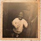 Vintage Happy African-American Baby Boy w/Bottle Photo Black Americana Children