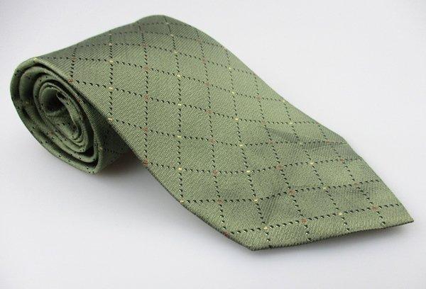 Men's New INNOCENTI TOM JAMES 100% Silk Tie Green NWOT Necktie Ties GR095