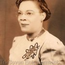 1940s Vintage Beautiful African-American Woman Posing Photo Booth Black People