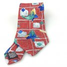 Men's New Looney Tunes 100% Silk Tie Daffy Duck Red NWOT Necktie Ties ST031