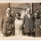 1920s Handsome African American Men w/ Women Old Antique Photo Black Americana