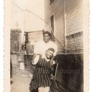 1940s Pretty Older African American Women House Vintage Old Photo Black People