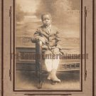 Antique African American Cabinet Card Old Photo Cute Young Boy Black Americana