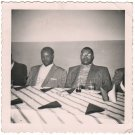 1950s-60s Vintage Two African-American Men Posing a/Table Old Photo Black People