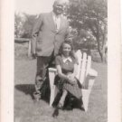 1940s Vintage Lovely Well-Dressed African-American Couple Photo Black People USA