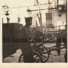 Vintage African American Photo Military Soldier in Europe Old Black Americana