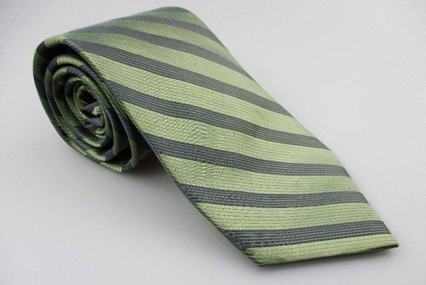 Men's New CALVIN KLEIN 100% Silk Tie Green Stripes NWOT Necktie Ties GR0112