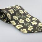 Men's New HUGO BOSS 100% Silk Tie Gray Floral NWOT Necktie Ties BWG086