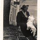 1940-50s Vintage African-American Grandma w/Baby Old Photo Black People Children