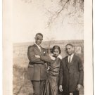 Antique African American Young People Photo Men Woman Dress Suit Black Americana