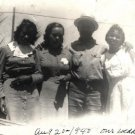 Vintage African American Photo Pretty Women Family Man Group Old Black Americana