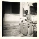 Vintage African American Photo Young Girl with Child Baby Old Black Americana