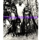 Vintage African American Photo Foreign Family Old Black Americana Men Children