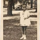 1920-30s Antique Adorable African-American Girl in Dress Photo Black Children US
