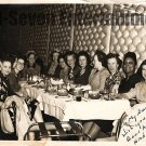 Vintage African American Pretty Woman Old 5x7 Photo Dinner Group Black Americana