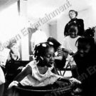 African-American Girl Photo Bobbing for Apples Small 4X6 B&W People Snapshot US