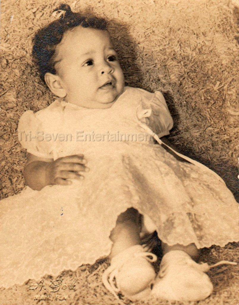 1957 Vintage Studio Photo Adorable African American Baby Girl Black Americana