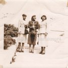 1940s-1950s Three Finely Dressed & Pretty African-American Women on Steps Photo