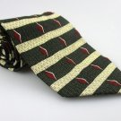Men's New TODAY'S MAN 100% Silk Tie Green Burgundy NWOT Necktie Ties GR089