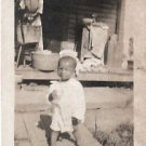 Vintage African American Photo Boy Child Posing Children Old Black Americana