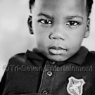 Black School Boy Photo African-American 8X10 B&W Children Cute Kid Photo New