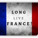 Long Live France 36x24 Color Poster Art French Flag Print