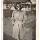 40s Vintage Pretty African American Woman Beautiful Smile Old Photo Black People