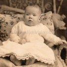 Antique Mulatto Biracial Baby Girl African American Real Photo Postcard RPPC