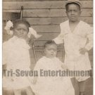 Antique African American Children Old Real Photo Postcard RPPC Black Americana