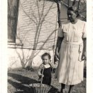 1940-50s Vintage African-American Grandma w/Toddler Girl Old Photo Black People