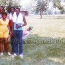 1983 Vintage African-American Family Picnic Park Old Photo Black People Color US