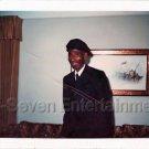 1978 Vintage Elderly African-American Man Hat Photo Black People Color Americana
