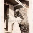 1930s Lovely African-American Woman Posing Dress Outside Photo Black Americana