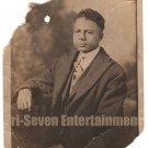 Antique African American Photo Man Real Photo Postcard RPPC Black Americana