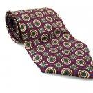 Men's New CHRISTOPHER HAYES 100% Silk Tie Red Yellow NWOT Necktie Ties BL0155