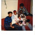 1980s Vintage African-American Family w/Cute Baby Old Photo Black People Color