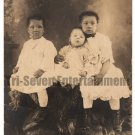 Antique African American Children Photo Family Group Kids Old Black Americana