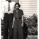 Vintage African American Photo Cute Couple Man Pretty Woman Old Black Americana