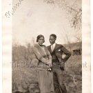 1920s Cute African-American Couple Man Woman Old Photo Black Americana People