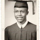1950s-60s Handsome African-American Young Man School Class Photo Black People