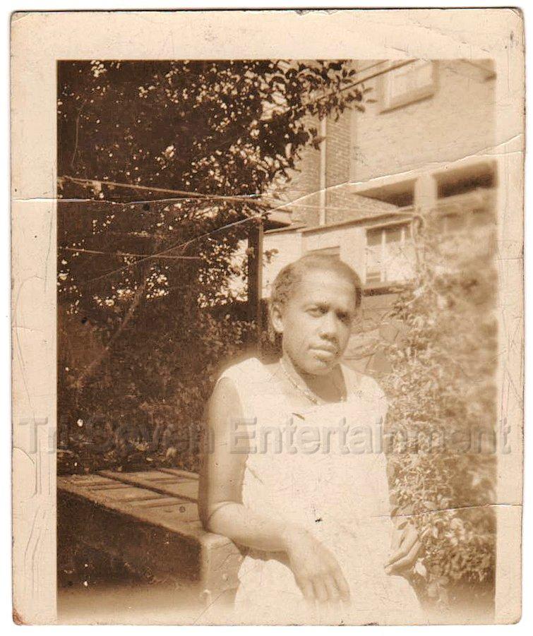 1940-50s Vintage Photo of Older African-American Woman Posing Black Americana