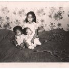 1950s Vintage Pretty African American Young Girl Old Photo Black Children Babies