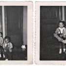 1950s-1960s Charmingly Cute African-American Brother Sister Kids Photo Lot of 2