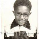 1950s-60s Smart-Looking African-American Boy School Class Photo Black Children