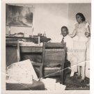 1950s Smiling African-American Man & Woman Old Photo Black People Original USA