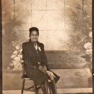 1940s Well-Dressed African-American Woman Large Photo Booth Black Americana
