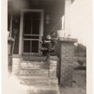 1950s African-American Man On Porch Old Photo Vintage Black Americana People