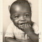 Vintage Adorable African-American Cute Baby Smiling Old Photo Black Americana